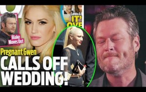 Blake Shelton announced an end to the wed when Gwen couldn't wear wedding dress because of pregnancy