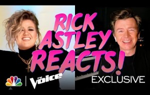 "Rick Astley's Reaction to the Coaches' ""Together Forever"" Music Video - The Voice 2021"