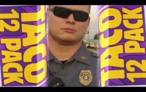 cop vs. guy who freaked out in Taco Bell